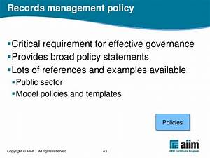 what is electronic records management With documents management policy