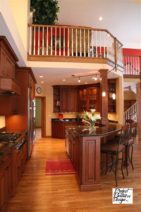 kitchen opens  traditional kitchen chicago  project partners design
