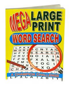 Extra Large Print Word Search Books