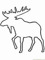 Moose Outline Coloring Pages Printable Mouse Coloringpages101 Mammals Animals Clipart sketch template