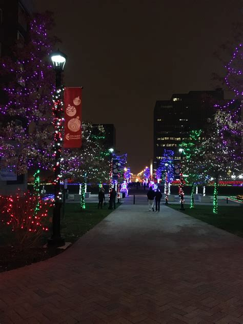 christmas lights in ohio columbus commons columbus ohio small park in downtown