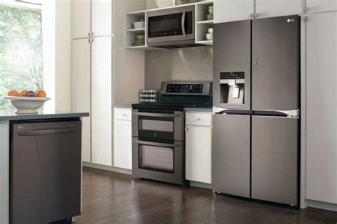 lg debuts black stainless steel kitchen appliances baby