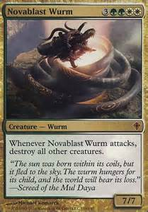 novablast wurm mtg card