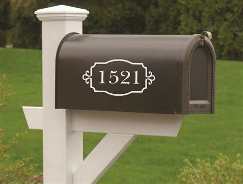 mailbox numbers vinyl decal set   vinyl numbers curb appeal ebay