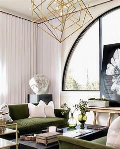 30 lush green velvet sofas in cozy living rooms for Green velvet sofa for your modern living room