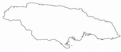 Jamaica Blank Map Borders Maps Caribbean