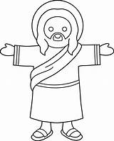Jesus Coloring Clip Sweetclipart sketch template