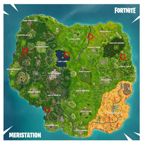 fortnite battle royale semana  temporada  donde ubicar