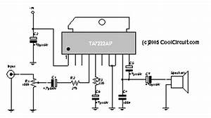 audio power amplifier circuit by ic ta7222ap electronic With small ic amplifiers for speakers