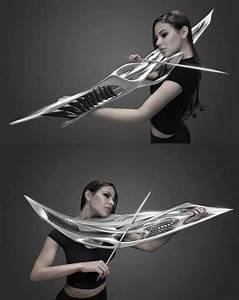 Electric violin looks like a sci-fi weapon