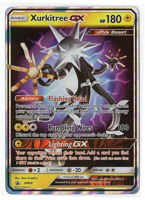 A subreddit for fans and players of the pokémon trading card game! Pokemon - Xurkitree GX SM68 Ultra Beast Card - Holo Foil - Promo (Normal Size)   eBay