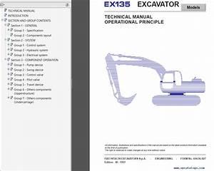 Fiat Hitachi Ex135  165  215  255  285  355  355beh  455 Shop Manuals