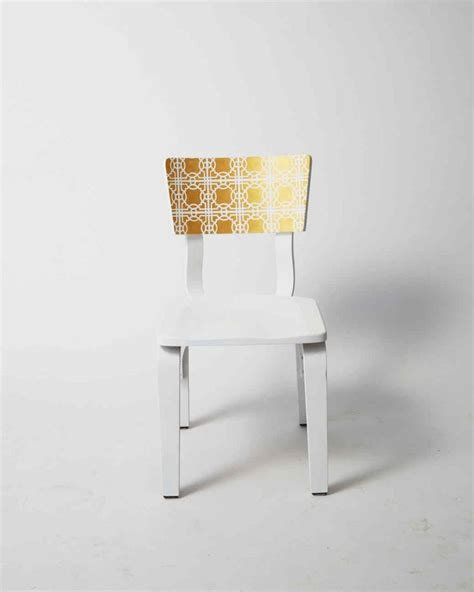 decor diy inspiration golden stenciled chair martha