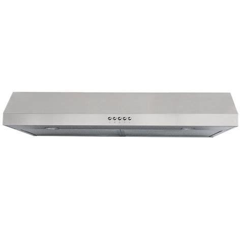 30 stainless steel range hood under cabinet windster 30 in under cabinet range hood in stainless