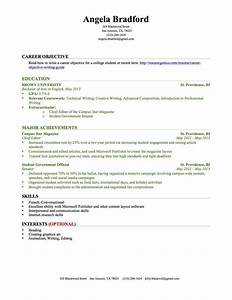 Resume Examples For College Graduates With Little
