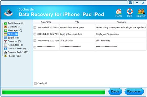 how to recover notes from iphone iphone note recovery how to restore deleted notes from