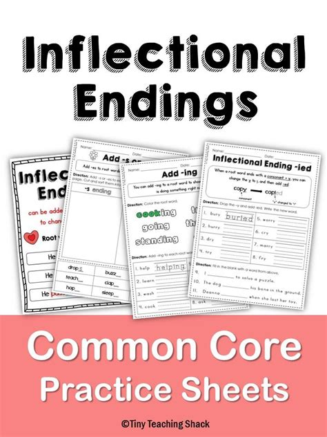 15 must see inflectional endings pins phonics teaching