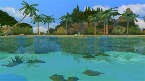 tropical beach  real waves sims  custom content