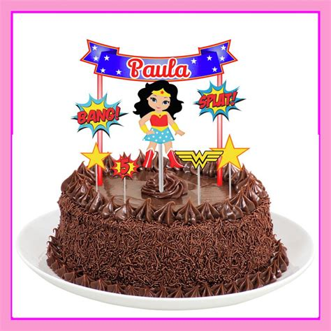 topo de bolo mulher maravilha no elo7 lilika personalizados lp d1a9a3