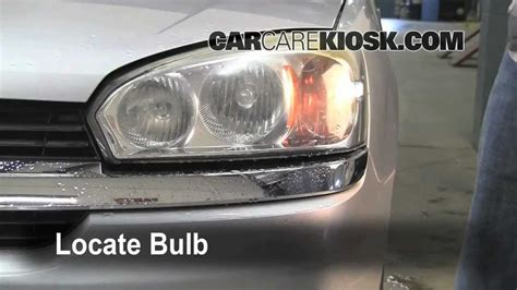 complete steps for replacing the headlight turn signal