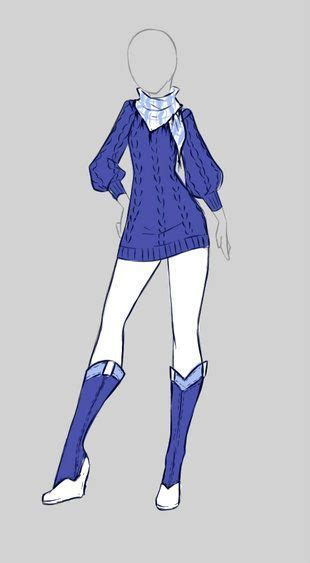 cute blue anime outfit character inspiration