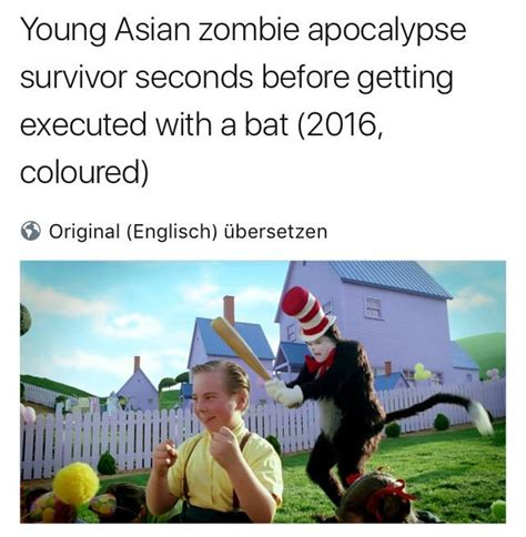 Cat In The Hat Meme - young asian zombie apocalypse cat in the hat know your meme