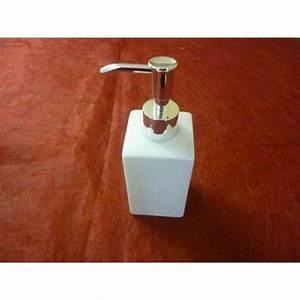 Pompe A Savon : pompe a savon carree distributeur de savon 29cl en porcelaine blanche centre vaisselle sarl ~ Teatrodelosmanantiales.com Idées de Décoration
