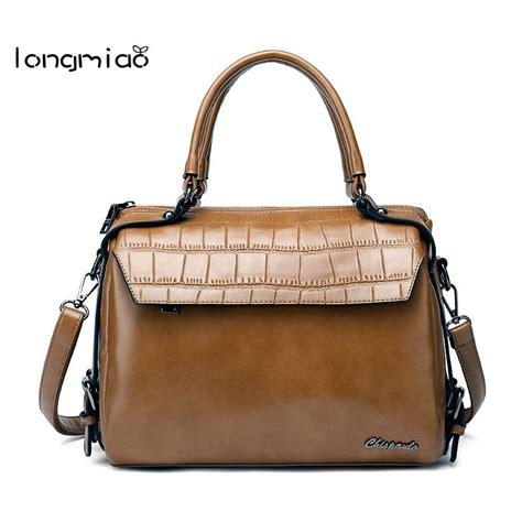 Longmiao Women Luxury Boston Handbags Famous Brands