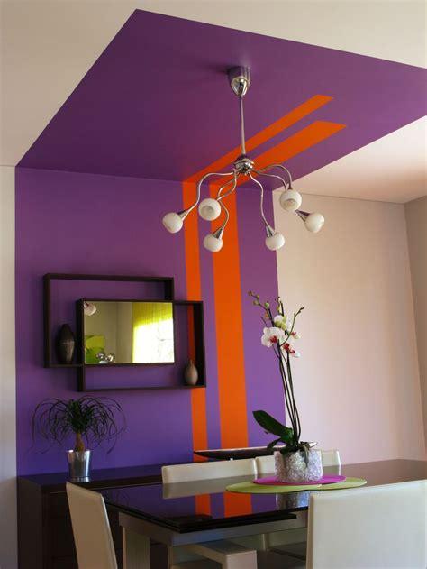 peinture mur plafond cosy d 233 co couleur mauve parfait