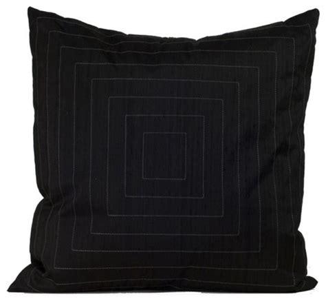 black decorative pillow pyramide decorative pillow in black modern bed pillows