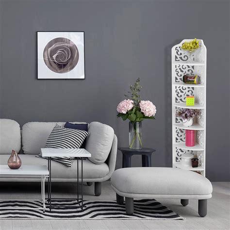 finether  tier modular cut  quarter circle wood plastic composite corner shelf unit storage