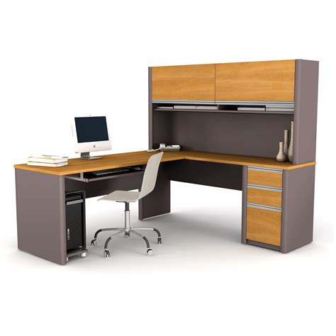 Bestar Connexion L Shaped Desk by Bestar Connexion L Shaped Desk With Hutch Cappuccino