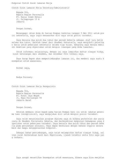 great contoh surat lamaran kerja di bank 9 jambi 69 untuk