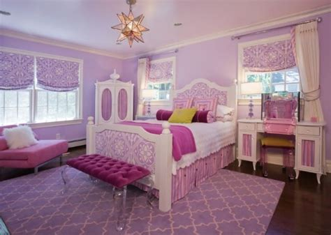 Pink White Purple Girls Room  Taylor's New Room