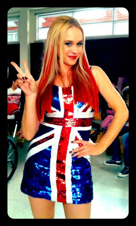 Glee Spice Girls Cover Becca Tobin Channels Ginger Spice For Wannabe Hollywood Life