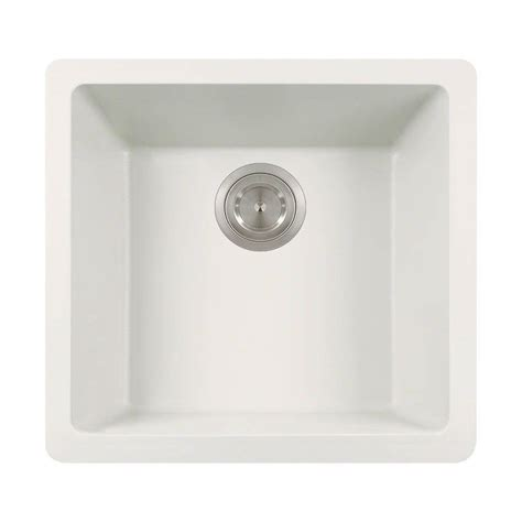 white undermount single bowl kitchen sink mr direct undermount granite composite 18 in single bowl 2117