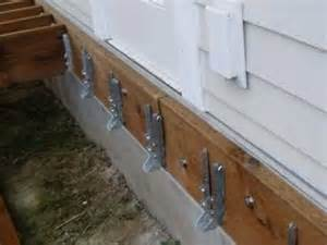 Flashing Deck Ledger by Bellingham Home Inspection King Of The House Lag Bolts