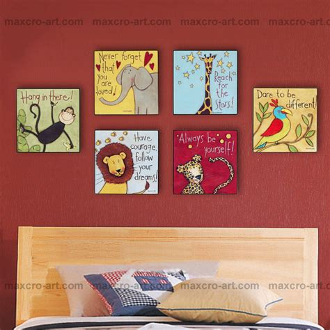 Cartoon Oil Painting For Kids Room Hot Selling Modern Home