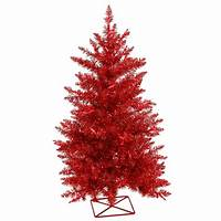 red christmas tree Red Artificial Christmas Trees