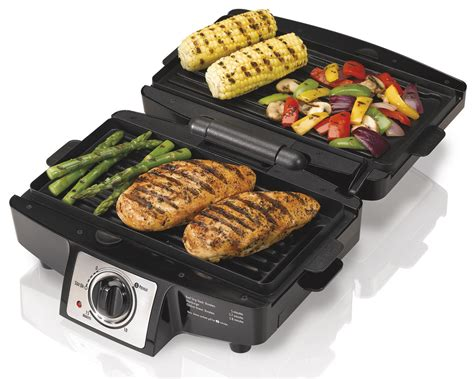 indoor grill amazon com hamilton beach 25332 easy clean indoor grill electric contact grills kitchen dining