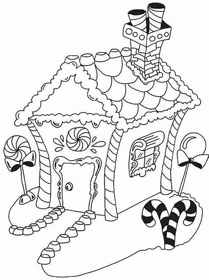 Coloring Christmas Pages Gingerbread