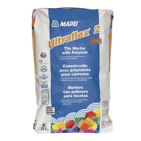 mapei ultraflex 2 white 50 lb tile mortar with polymer