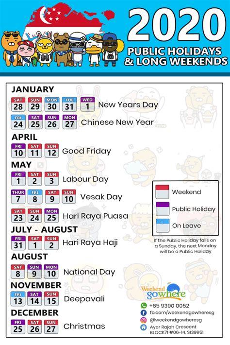 public holidays plan long weekends singaporego
