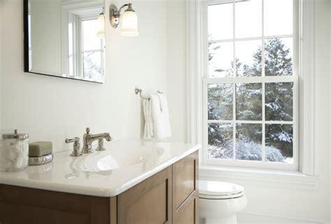 Clean White Powder Room   Traditional   Powder Room