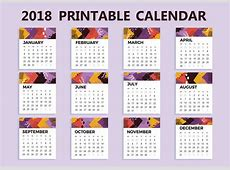 Free 2018 Printable Calendar Vector Download Free Vector