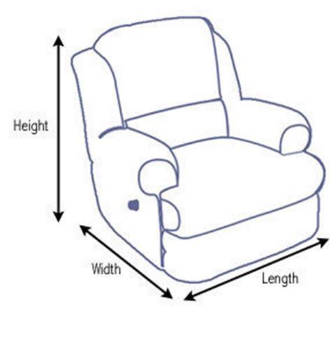 recliner dimensions dimensions info