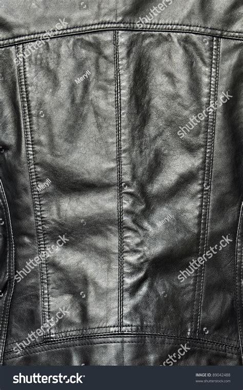 black leather texture jacket  clothing stock photo