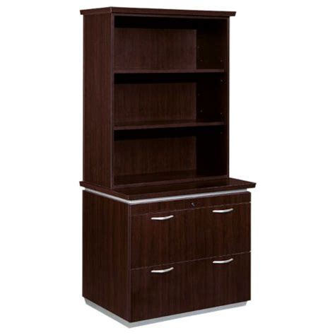 frosted glass cabinets mocha lateral file with bookcase hutch officefurniture com