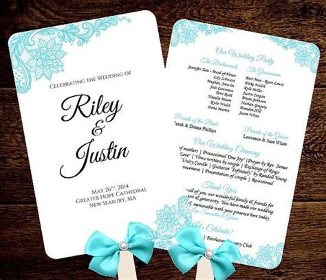 free wedding program fan wedding fan program template printable blue fan program instant scroll diy