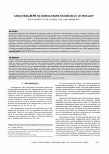 Pdf  Caracteriza U00e7 U00e3o De Hidrolisados Enzim U00e1ticos De Pescado